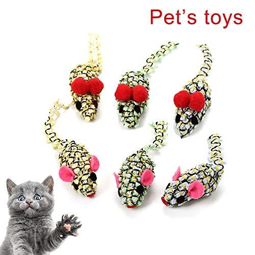NA xinxinmaoyan Cats Play Toys - Juguetes Interactivos para Gatos, Interactivo, Divertido, Falso Ratón, Mascota, Gato, Gatito, Captura, Burla, Masticación, Juguete Color Aleatorio
