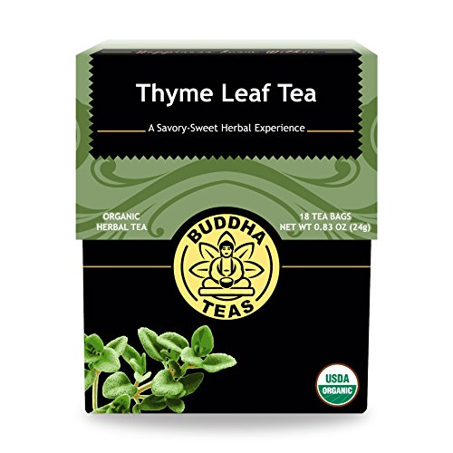 Buddha Teas Organic Thyme Leaf Tea | 18 Bags | Decaffeinated | Aids Digestion | Made in the USA