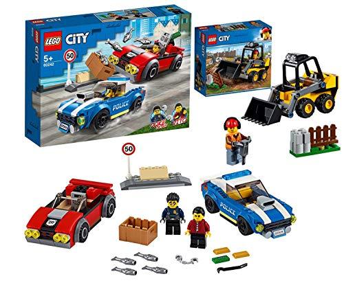 Legoo Lego City Set: 60242 - Festnahme auf der Autobahn + 60219 Frontlader, ab 5 Jahre