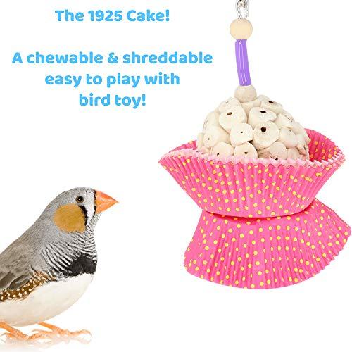 Bonka Bird Toys 1925 Cake Sola Shred Chew Parrot Parrotlet Budgie Finch Lovebird Cockatoo Cocaktiel