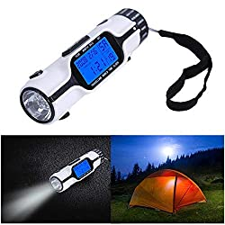Flannel Mullein Clock Torch Outdoor Lantern - Portable Time Alarm Clock Electronic Calendar Multifunction Led Light Torch Lcd Display - Flashlight Woolly Great Blowlamp Blowtorch