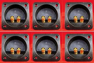 QTY (6) Recessed Speaker Box Terminal W/gold Banana Type Binding Posts Fits 2 5/8