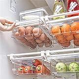 Su-xuri - Caja de almacenamiento para frigorífico transparente para la cocina y el guardarropa, para alimentos frescos de plástico, almacenamiento de cocina, almacenamiento para nevera