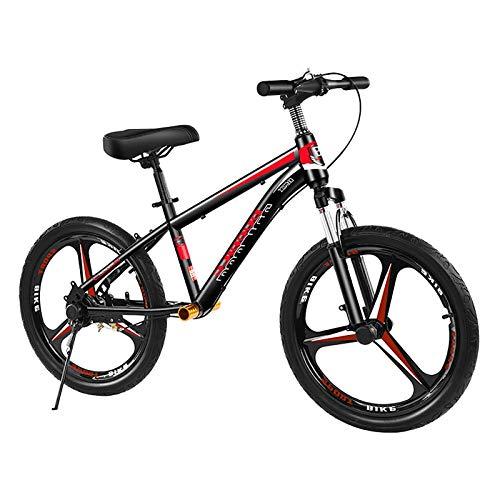 ZLI Bicicleta Equilibrio Bicicleta Sin Pedales Adultos Negra Roja - Neumático 16''/18''/20'', Bicicleta de Entrenamiento Grande Sin Pedales para Adolescentes de 130-185cm de Altura, Fácil Montar