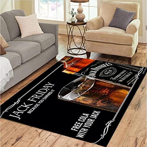 DHDHH Alfombras de Whisky embotelladas, decoración, salón, Dormitorio, salón, Mesa de té, área, Alfombra, Vino y café, Alfombra, 180x280cm