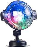 Lunartec Projektionslampe: LED-Kugellampe mit Schneefall-Effekt und Timer, weiß + RGB, IP44 (LED Weihnachtsbeleuchtung)