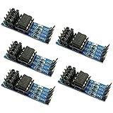 KKHMF 5個セット AT24C256 I2C インターフェース EEPROM メモリ モジュール ボード LEDインジケータ付き