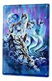 LEotiE SINCE 2004 Blechschild Fantasy Gothik Wolf Wand Deko
