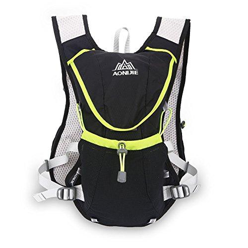 Qiterr 【𝐎𝐬𝐭𝐞𝐫𝐧】 Kettle Bag Vest Outdoor Sports Rucksacks Wasser Tasche(Schwarz)