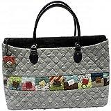 柴田明美のパッチワークキット お買い物にはこちらのバッグ 出来上がり作品サイズ縦20cm×横36cm×幅8cm