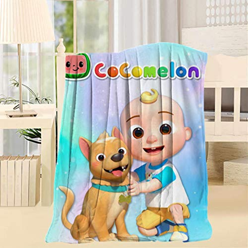 APICELLAjiow Jo_jo Co_comelon Nursery Dog Blanket Twin Throw Size Cozy Home Decorative for Bed Sofa Couch Chair Garden Camping