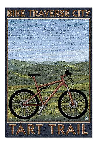 Traverse City, Michigan - Bike Tart Trail 50277 (Premium 500 Piece Jigsaw Puzzle for Adults, 13x19, Made in USA!)