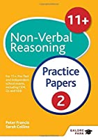 11+ Non-Verbal Reasoning Practice Papers 2 by Sally Moon(2016-05-27)