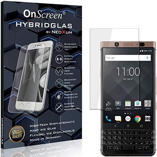 OnScreen Schutzfolie Panzerglas kompatibel mit BlackBerry KeyOne Bronze Edition Panzer-Glas-Folie = biegsames HYBRIDGLAS, Bildschirmschutzfolie, splitterfrei, MATT, Anti-Reflex - entspiegelnd