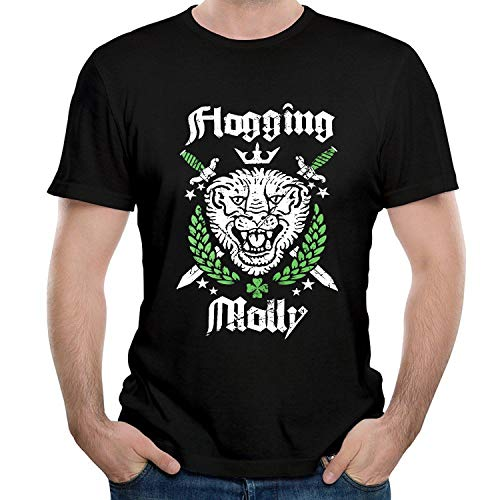 HAIZHENY Hombre Flogging Molly Art Cotton Camiseta/T-Shirt tee X-Large