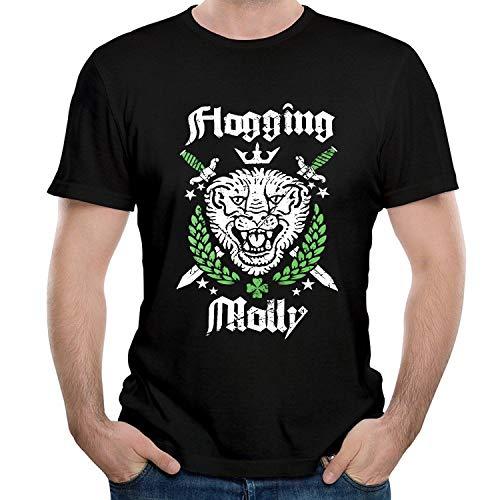 HAIZHENY Hombre Flogging Molly Art Cotton Camiseta/T-Shirt tee X-Large