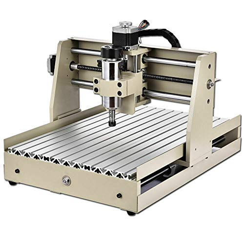 4 Axis 3040T Engraving Milling Machine 400W USB Engraver Wood Router DIY Metal Steel Carver PCB Engraving Drilling Machine Aluminum Alloy Frame Controlled by Computer Working Area 320mmx530mm