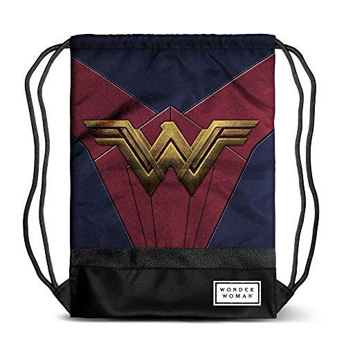 Karactermania Wonder Woman Emblem - Bolsa de Cuerdas, 47 cm, Multicolor