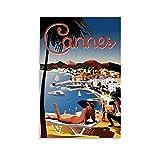 WERTF Ästhetische Dekoration Vintage Reise Poster Cannes