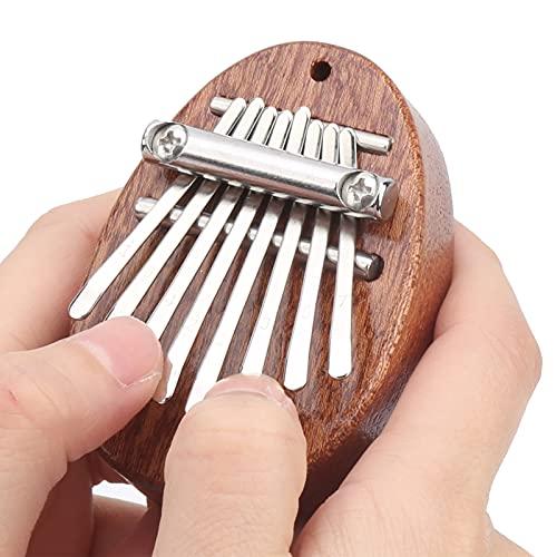 01 Mbira Sanza, Daumen Klavier Mahagoni Holz Tragbar für Anfänger für Rucksack Ornament für Kinder und Erwachsene