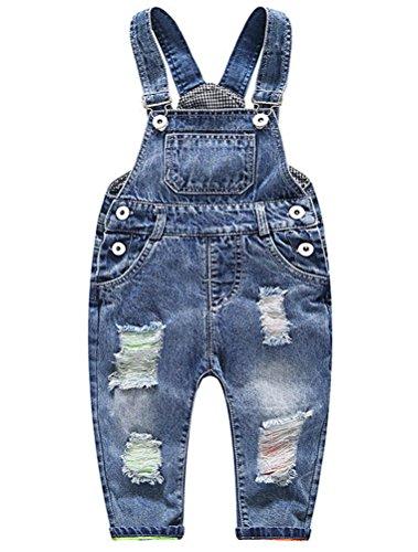 Odziezet Unisex Baby Overall Latzhose Jeanshose Tasche Jeans Hosen (2-3 Jahre, Blau)