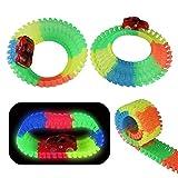 Akokie Circuito Coches Niños Luminoso Pista Coches con 2 LED Coches...