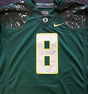 Signed Marcus Mariota Jersey - Green Nike Size XXL MM Holo Stock #87171 - Autographed College Jerseys