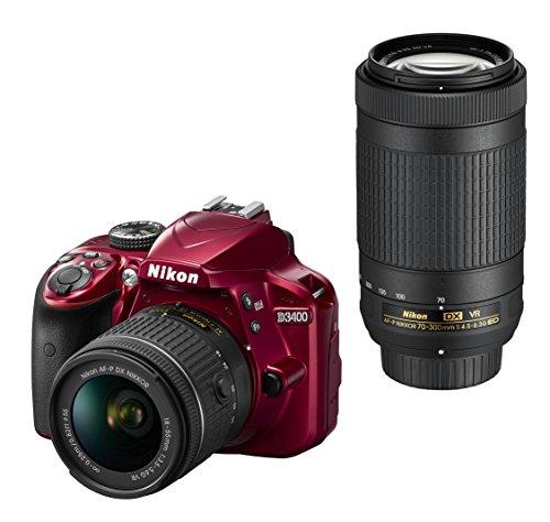 Nikon デジタル一眼レフカメラ D3400 ダブルズームキット レッド D3400WZRD