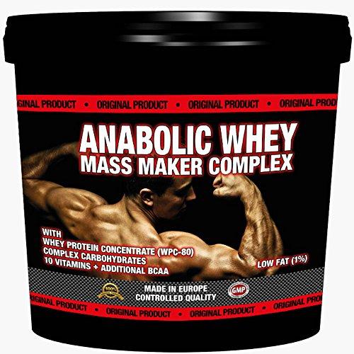 ANABOLIC WHEY MASS MAKER COMPLEX 3000g / 3kg | Für Hardgainer | Unterstützt den Muskelaufbau | Mit Whey Protein und Maltodextrin | Reich an Aminosäuren, BCAA & Glutamin| Vanille Geschmack