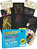 Purple Ladybug Scratch Paper Art Set for Kids - 36 Full Sized Sheets with 3...
