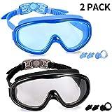 Kabuda 2 Pack Swim Goggles, Swimming Glasses for Adult Men Women Youth, Anti Fog UV400