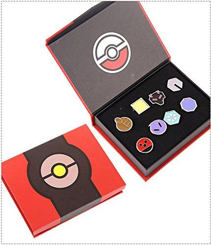 Pokémon Set bestehend aus 8 Arena-Orden der 2. Generation, der Johto Region