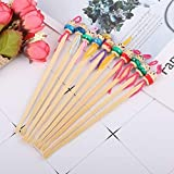 10PCS Ear Spoon,Wood Bamboo Ear Pick,Ear Wax Curette, Ear Cleaning Tool,Mini Doll Ear Picks Wax Remover Cleaner Tool,Portable Ear Wax Removal Tools