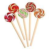 JUNGEN® 5PCS Bolígrafos de creativa Pluma de forma de Lollipops Moda Papeleria creativa y Oficina Artículos, color al azar