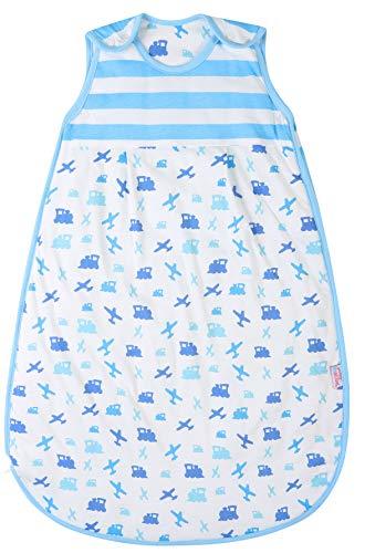 Snoozebag Baby Sleeping Bag Toddler Sleep Sack Blanket 18-36 Months 2.5 Tog 100% Cotton Front Zip Unisex Planes and Trains Design
