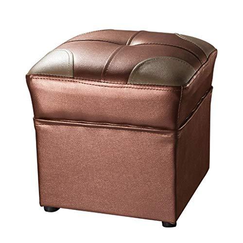 Sturdy stool - Pequeño taburete de cuero Sofá Banco Banco Banco Banco de zapatos Taburete Cuadrado Pier Mesa de Café Mesa de Café Tienda Tienda Tienda de zapatos Taburete Moderno Sala de estar