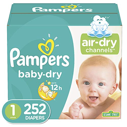 Diapers Newborn/Size 1 814 lb 252 Count  Pampers Baby Dry Disposable Baby Diapers ONE MONTH SUPPLY