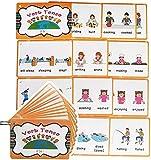 24 Grupos Inglés Verbo Tense Flashcards para Niños | Aprendizaje de bolsillo Tarjetas de palabra|Perfecto para pre-K/maestro/terapeutas autistas herramientas