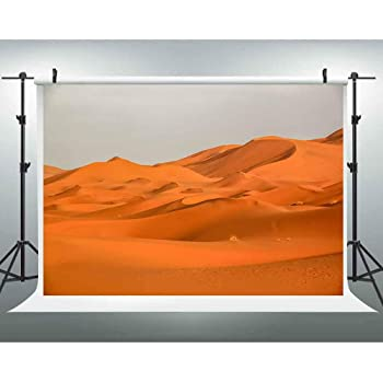 7x10 FT Desert Vinyl Photography Background Backdrops,Dramatic Sunset Scenery at Sahara Dunes Arid Landscape Morrocco Summer Nature Background for Selfie Birthday Party Pictures Photo Booth Shoot