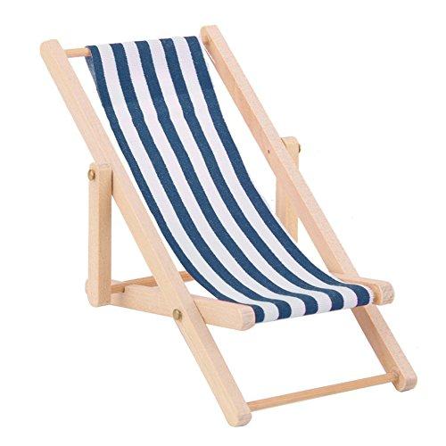 Faironly Liegestuhl/Strandliege/Sonnenliege für Kinder, Miniatur-Spielzeug blau
