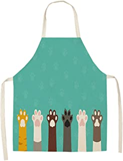 Summer apron female breathable thin section art painting floral artist fashion work clothes tea shop pizza bakery dedicated