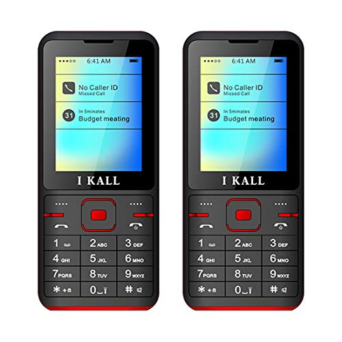 IKALL I Kall K37 2.4 Inch Display Dual Sim Feature Phone with 1 Year Manufacture Warranty (Red), Pack of 2