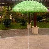 LYYJIAJU Parasolparasol Terrazze e Giardini 1.4M Beach Simulazione ombrellone Paglia, Giardino all'aperto Patio di Paglia Ombrello con 8 vetroresina Rib, Parasole Protezione Senza Base