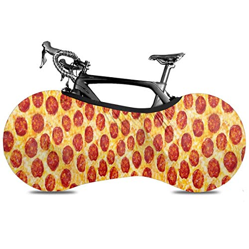Pizza Outdoor Bike Cover For Mountain And Road Bikes Indoor Storage Bag