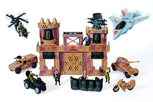 True Heroes Deluxe Military Base Playset, AD20159