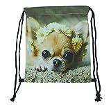 Beutel Tasche Rucksack Turnbeutel Print Hund Chihuahua