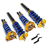 MOSTPLUS Full Coilovers Struts for 1989-1994 Nissan S13 240SX Adjustable Height Shock Absorber Assembly (Set of 4)