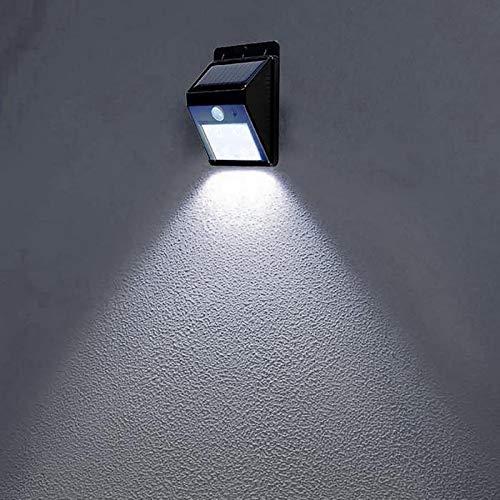Lampada da parete esterna del sensore di movimento PIR del giardino della luce solare impermeabile 4 LED