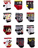 Disney Baby Boys Mickey Mouse Character Designs Socks 12 Pack (0-24 Months)