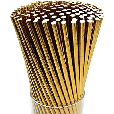 paper straws gold
